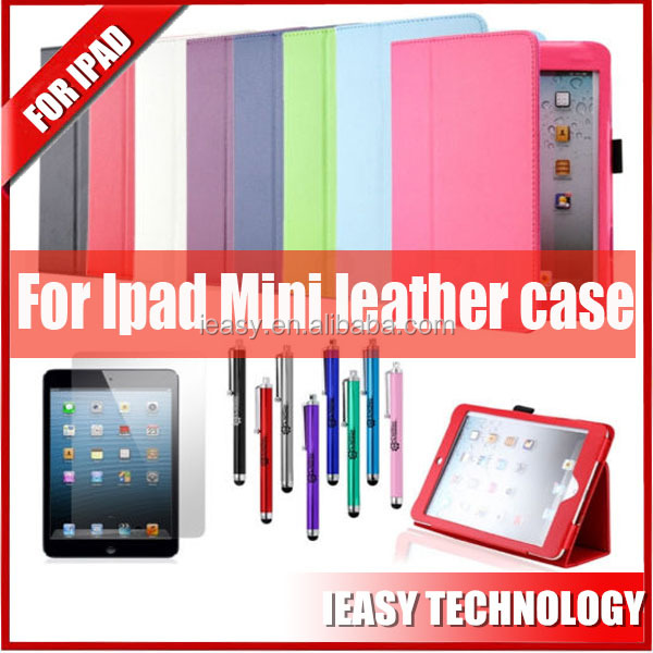Tablet sublimation pu leather cover case for ipad mini