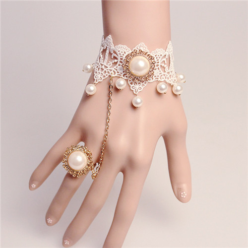 MYLOVE gold bracelet bridal jewelry with pearl MLGS077