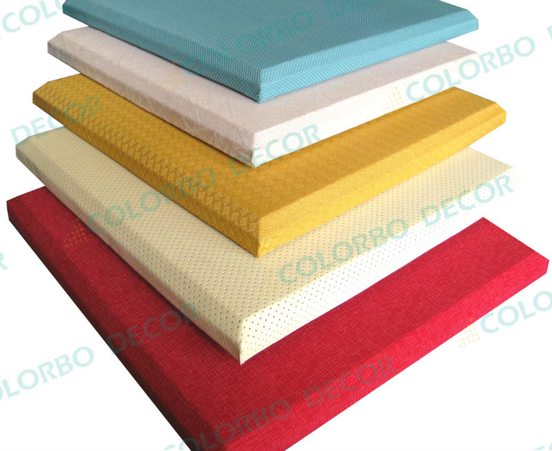Fabric Sound Panels : Decorative sound proofing panels fabric wrapped board