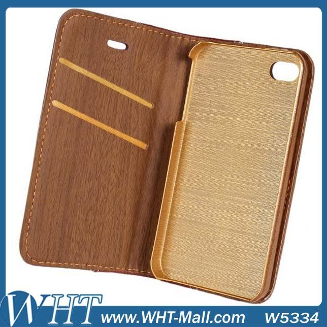 Ledertasche Iphone 4s Holz-leder-case Für Iphone 4s