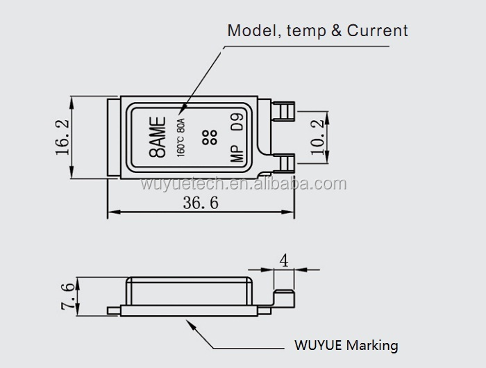 Surface mounting bime<em></em>tallic thermostat 8AME for auto motor