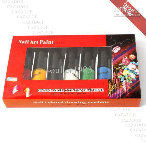 Nail Art Colors Drawing Polish Kit Stamper DIY Printer Nail Stamping Printing Machine M23