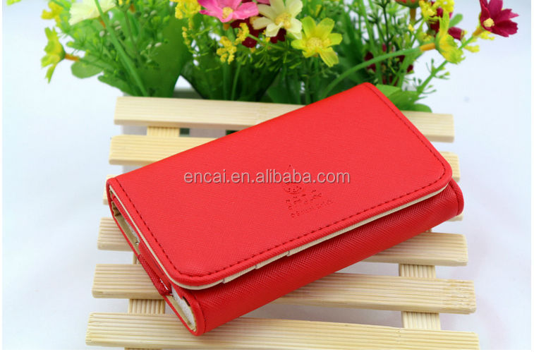 Encai Wholesale Fashion Phone Wallet/Mobile Phone Case/Cell Phone Bag For Apple Phone & Samsung