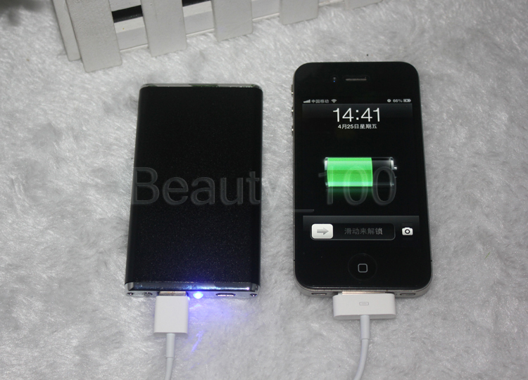 Real 3000mAh Power Bank Ultra Thin Slim LED Portable External Battery Backup Charger for Mobile Phone Free Shipping