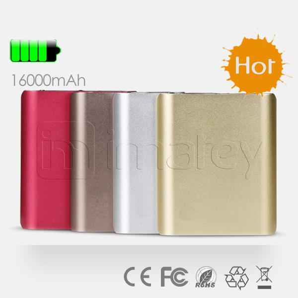 power bank for macbook pro /ipad mini SP portable mobile harga power bank for iPad Air for LG G2 16000mah Aluminum