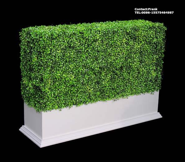 Haie artificielle de buis avec planteur arbres artificiels for Setos para jardin