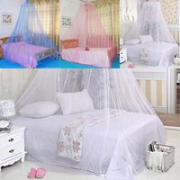 Москитная сетка New Round Lace Insect Bed Canopy Netting Curtain Dome Fly Mosquito Net Outdoor 1M 1.2M