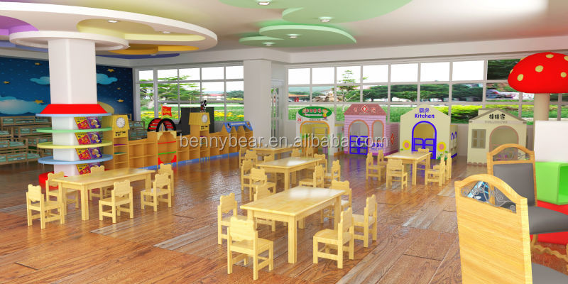 Classroom Furniture For Kindergarten ~ Kindergarten wooden furniture children classroom