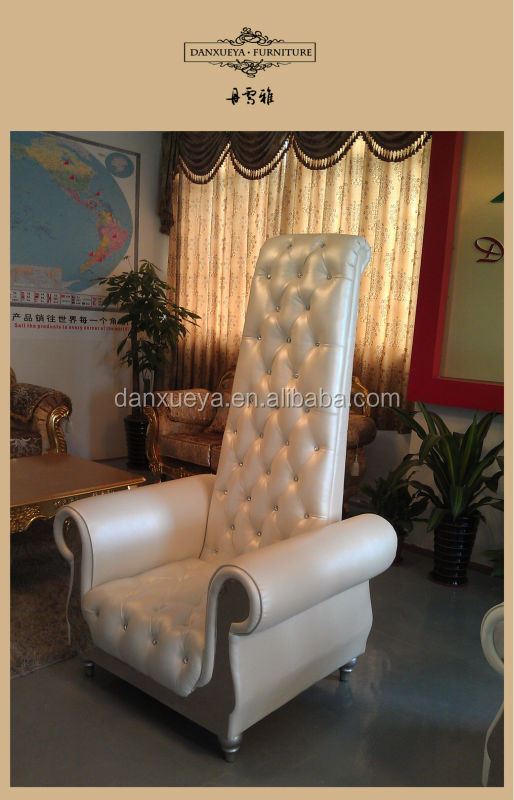 high back chair white leather sofa chair living room furniture 2262