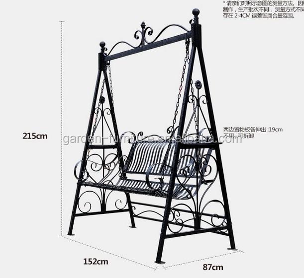 Wrought iron luxury comfortable love seat outdoor swing bench buy