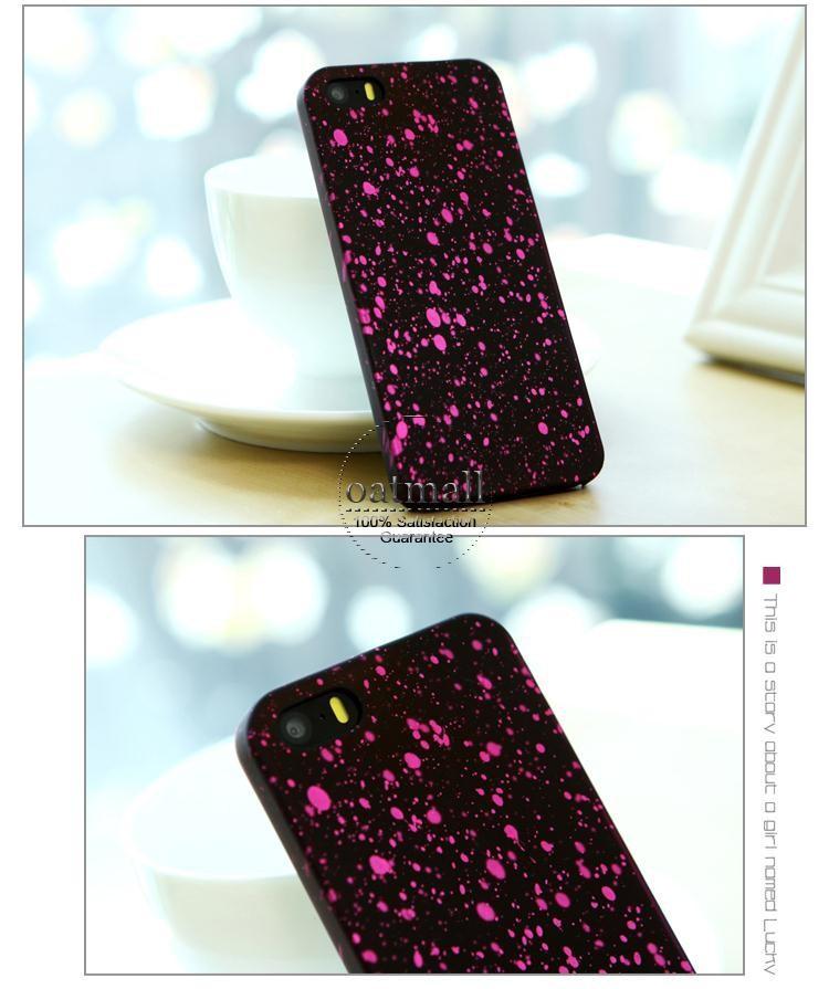 2015 году звездное небо блеск звезды 3d случай для apple iphone 5 5s заднюю флуоресценции для iphone5s с удивительной 3d визуального эффекта