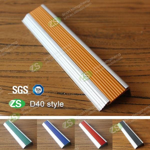 Aluminum Edge Protection : Pvc aluminum stair edge protector step for carpet
