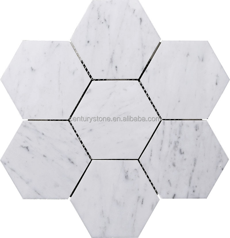 Square Mix Octagon Black And White Mosaic Bathroom Marble Floor Tiles
