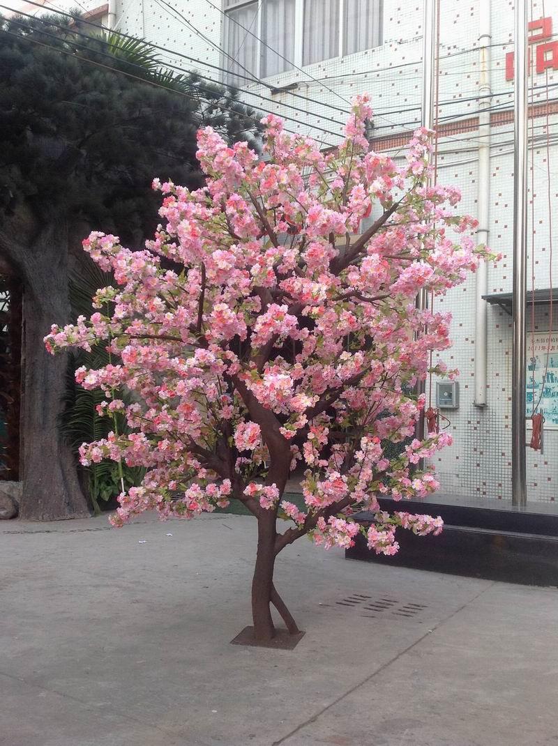 Large Artificial Fake Flower Trees Make In Guangzhou Silk