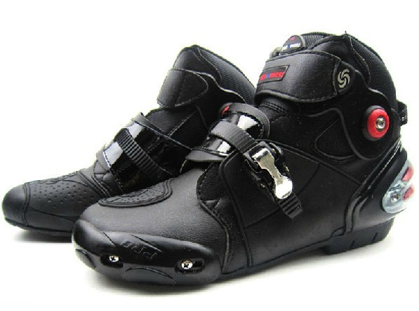 100% Genuine Leather Motorcycle Motocross Boots Sport Racing Shoes Cyc