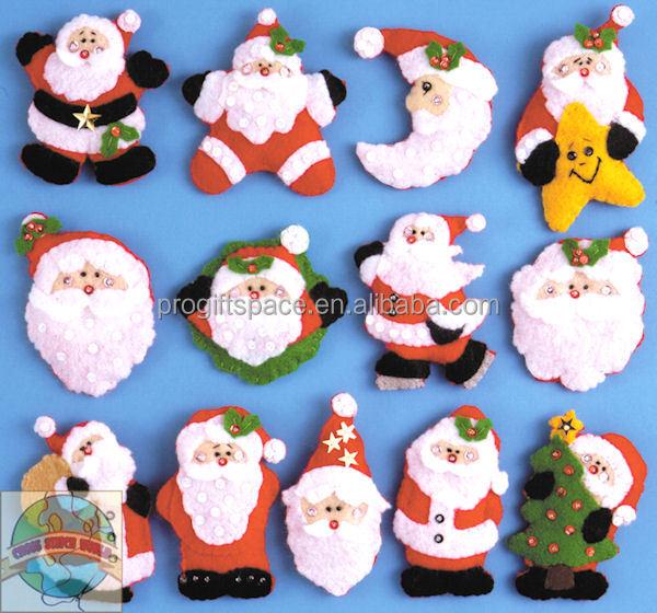 2015 hot sale eco cheap handmade felt wholesale Father Christmas mask ...