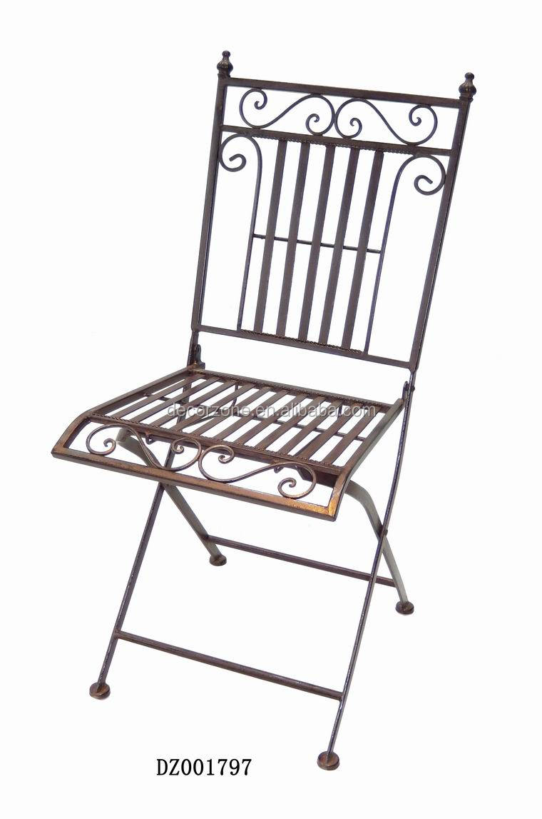 cheap metal folding bistro chair with modern design buy iron