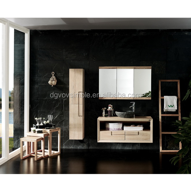 2014 Moderne En Bois Massif Armoire De Toilette Salle De Bains Vanit Salle De Bains Meubles