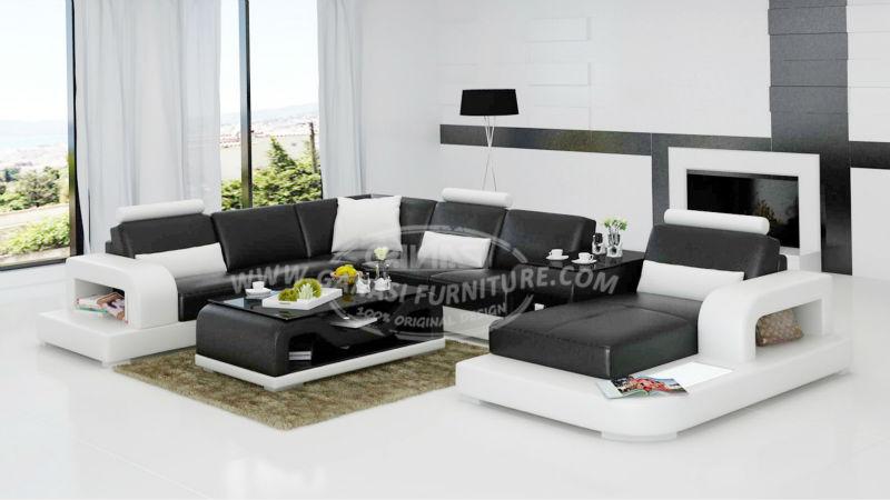 ganasi muebles de estilo europeo de lujo mobiliario de sala de cuero italiano soa