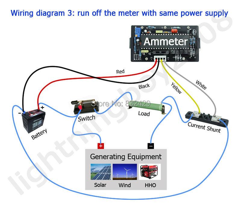 up5035 digtial dc 500a blue lcd amp meters panel meter ammeter power dc 6 24v 12v current