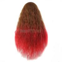 Смешайте армии зеленый градиент peachblow дамы Косплей парики кудрявые парики