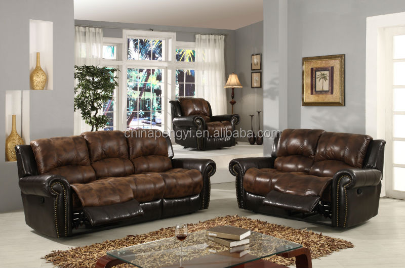 modern microfiber recliner sofa sets living room furniture