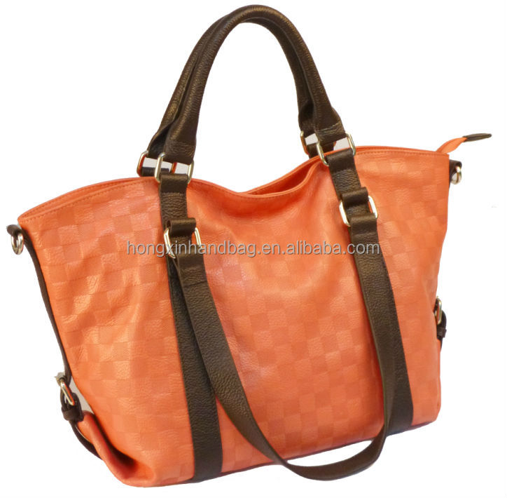 2014 ss new model leather handbag lady tote