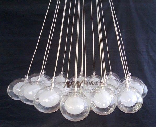 10 огни новый современный дизайн яиц форму двойной пузырь стекла света освещение подвесной светильник подвесной