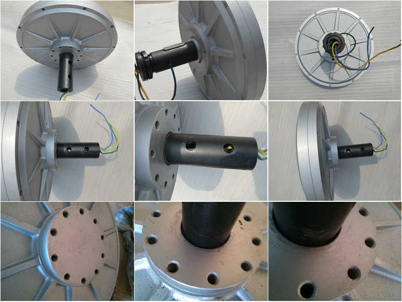Disc Coreless PMG ! Vertical axis wind turbine use low rpm low start torque 3kw axial flux permanent magnet motor generator
