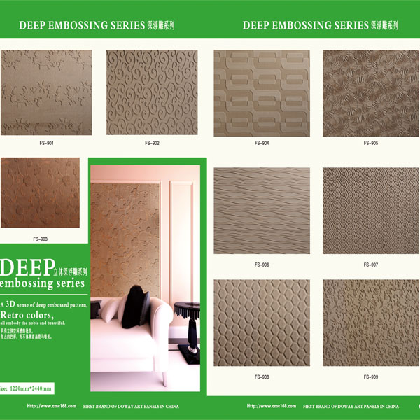 Moisture Resistant Wall Covering : Decay water resistance d emboss decorative wall panels