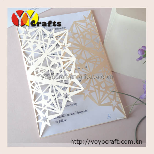 Luxury wedding invitationslaser cut stars invitation card for party marriage gate wedding invitations 57 57 01 stopboris Image collections