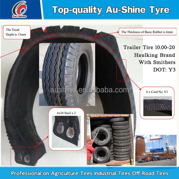 Backhoe Tire Brands : Aushine brand tractor trailer tires view
