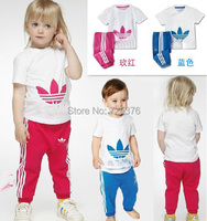 Комплект одежды для девочек Retail baby clothing sets boy and girl sport sets/shirt+pants/baby wear/kids clothing/2 sets/baby clothes