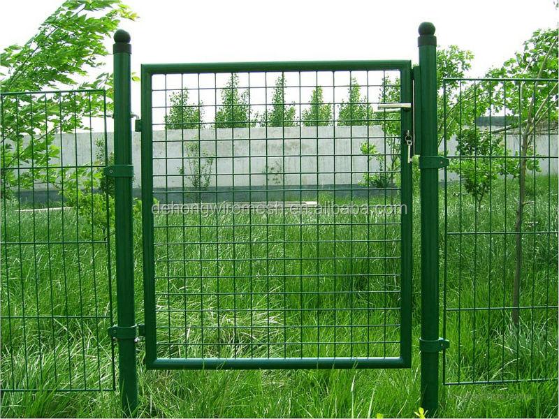 Welded wire mesh gate steel metal view front