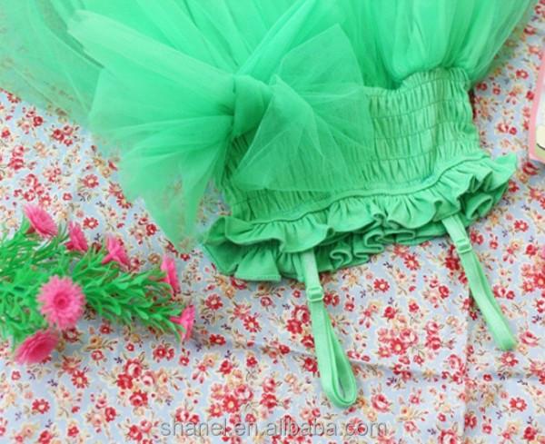 Coupe du monde mode vert couleur enfants robe fille robe
