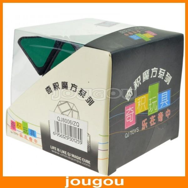 Неокубы, Кубики-Рубика Qj Pyramid Black-matrix SMD Triangle Shaped Magic Cube With Plastic Sheet Not Sticker For Child Puzzle Toys
