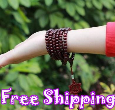 HOT SALE Tibetan Jewelery Red Wood sandalwood Pray...