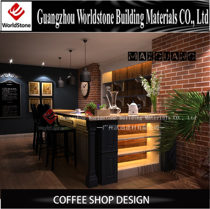 Coffee Shop Counter Furniture Ceiling Design
