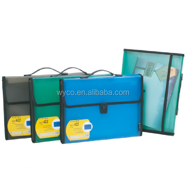 Expanding file folder with handle/expandable file tote bag