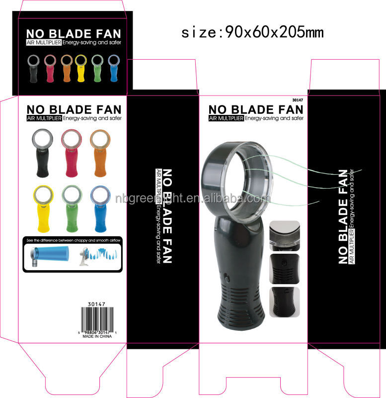 handheld mini bladeless desk fan