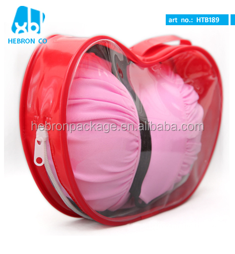 Promotional Clear Pvc Bra Bag with Zipper