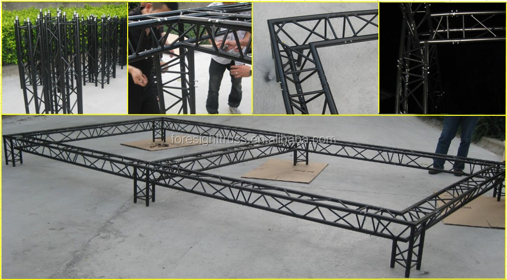 Banquet Equipment Lighting Truss Stage Design For Display
