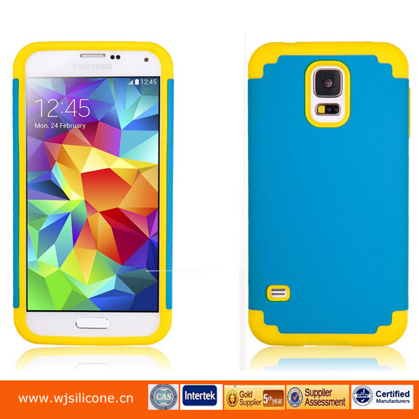 Customized PC+Silicone Manufacturer New Style For Samsung Galaxy S5 Case