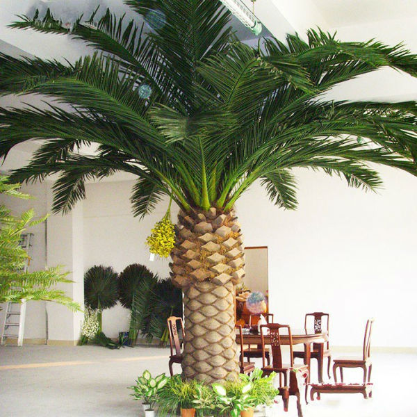 Pvc grande ext rieur artificiels faux arbres palmier for Arbre artificiel exterieur