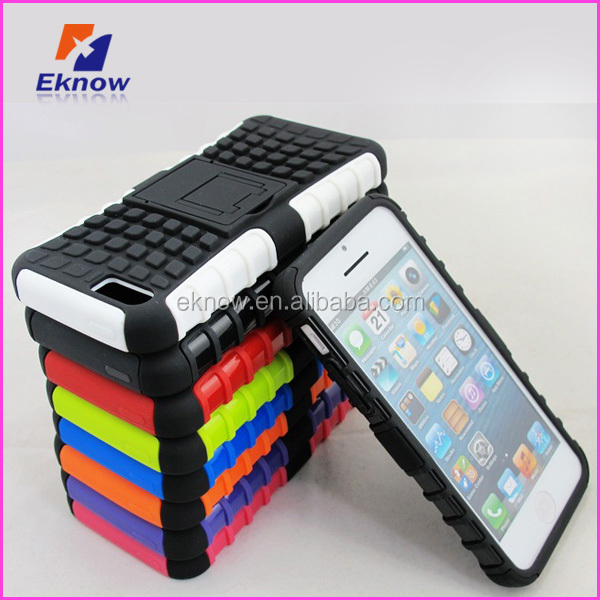 TPU Rubber skin case for iphone 5 case with stand