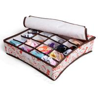 новый прекрасный дизайн хранения поле белье Организатор шкафа ящик носки связей бюстгальтер белье с 24cells крышка 7 12 3 размера