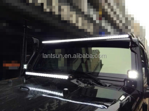 50 inch led light bars roof mount bracket for jeep wrangler jk yj. Black Bedroom Furniture Sets. Home Design Ideas