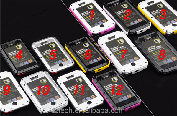 New Product Gorilla Glass Waterproof Case for iPhone 5