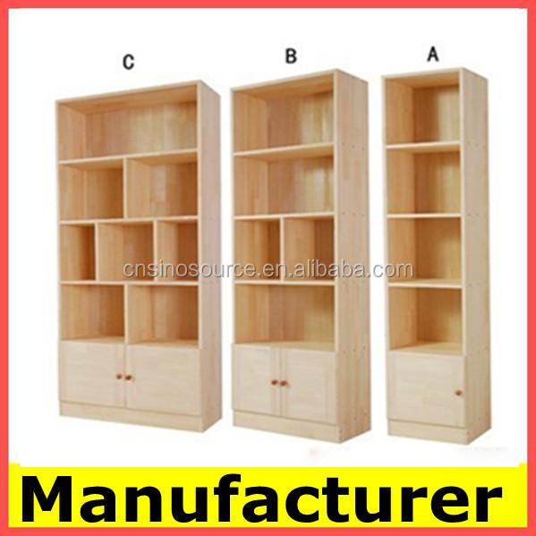 diseo moderno librera de madera ngulo estante rack de almacenamiento