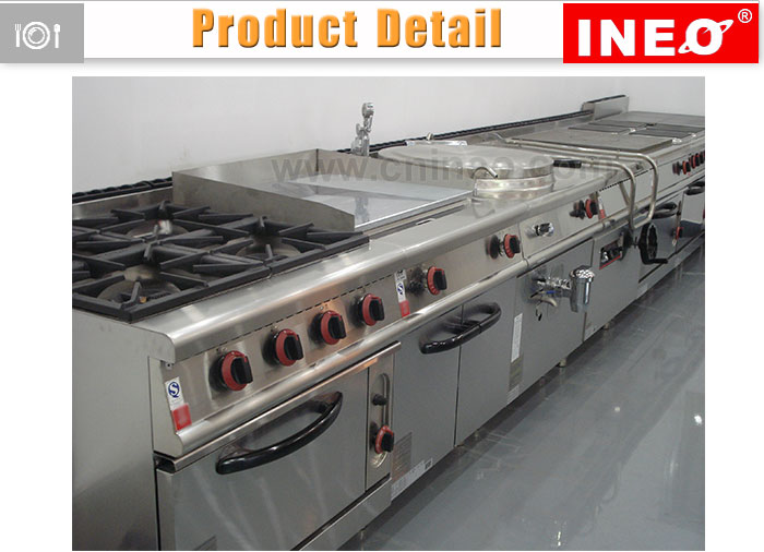 Stainless steel fast food equipment electric commercial for Cuisine commerciale equipement